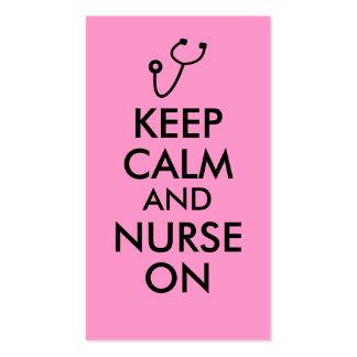 Nurse Gift Stethoscope Keep Calm and Nurse On Business Card