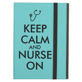 Nurse Gift Stethoscope Keep Calm and Nurse On Cover For iPad Air