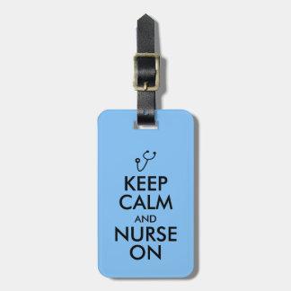 Nurse Gift Stethoscope Keep Calm and Nurse On Tags For Luggage
