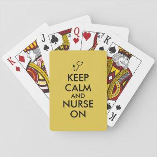 Nurse Gift Stethoscope Keep Calm and Nurse On Deck Of Cards