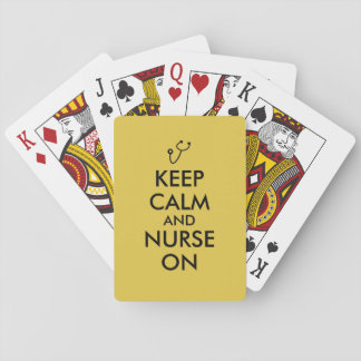 Nurse Gift Stethoscope Keep Calm and Nurse On Playing Cards