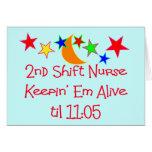 "Nurse Gifts ""2nd Shift Nurse""  Hilarious Card"