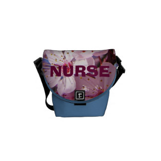 NURSE gifts Messenger bags Pink Spring Blossoms