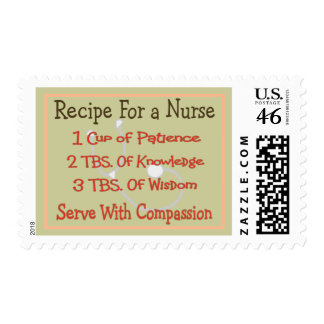 Nurse Gifts Recipe For a Nurse Postage Stamps
