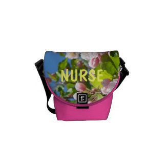 NURSE gifts Spring Messenger Gifts Tree Blossoms Courier Bags