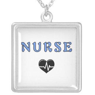 Nurse Gifts Square Pendant Necklace