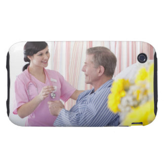 Nurse giving patient medication in hospital tough iPhone 3 cases