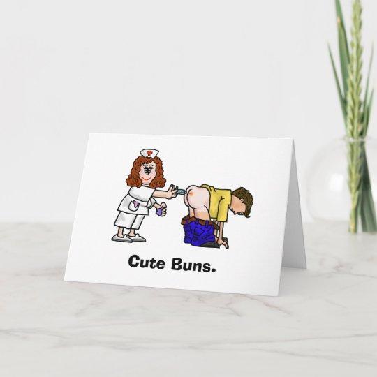 Nurse Giving Shot In The Butt Birthday Card Zazzle