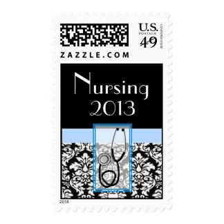 Nurse Graduaiton Postage Class 2013 Damask