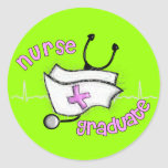 Nurse Graduate Gifts (Cap and Stethoscope Design) Sticker