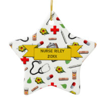 Nurse Graduation Ceramic Ornament