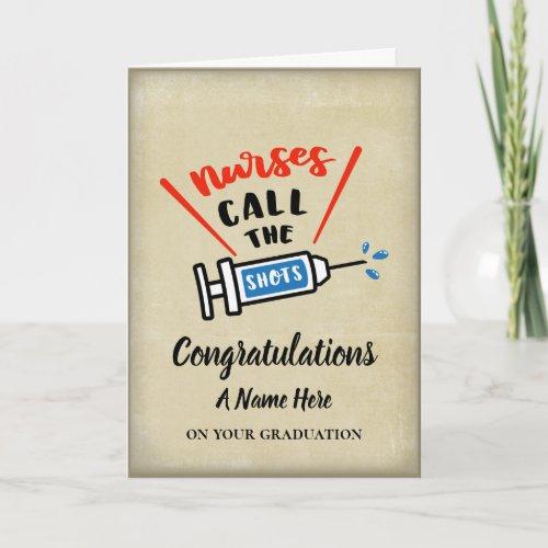Nurse graduation congratulations humorous card