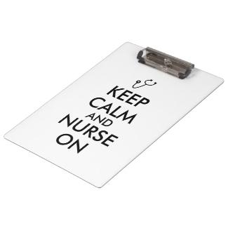 Nurse Graduation Gift Clipboard Keep Calm Nurse On