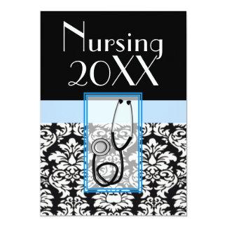Nurse Graduation Graduation Invitation Damask 20XX