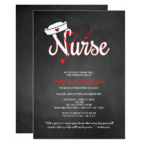 Nurse graduation invitation party pinning ceremony