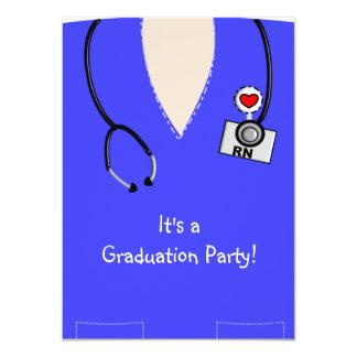 Nurse Graduation InvitationsBlue Scrub Top II Custom Announcements