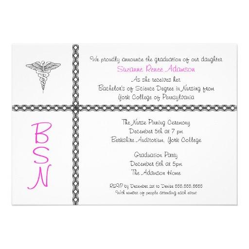 Nurse Graduation Invite BSN LPN RN CUSTOMIZABLE