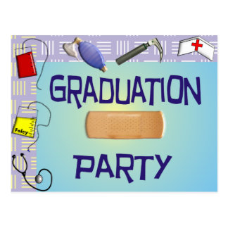 Nurse Graduation Party Invitations Postcard