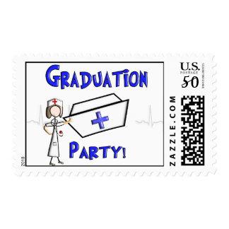 Nurse Graduation Party Postage Stamps