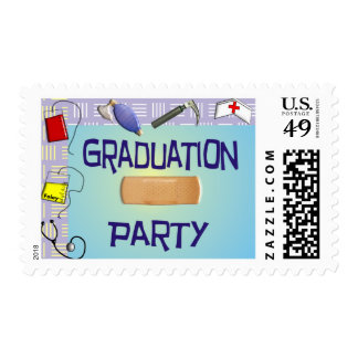 Nurse Graduation Party Postage Stamps