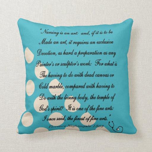 Nurse Graduation Pillow Florence Nightingale Quote