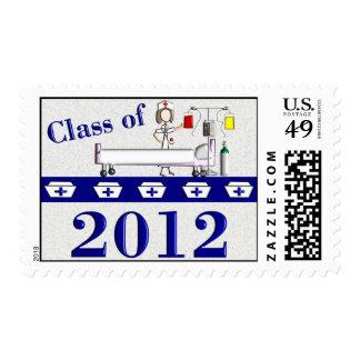 "Nurse Graduation Postage ""Class of 2012"""