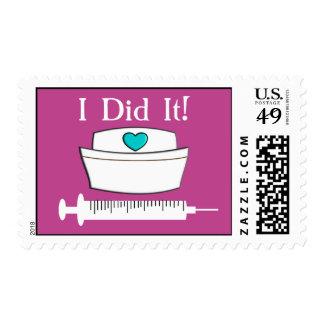 Nurse Graduation Postage Stamps #8