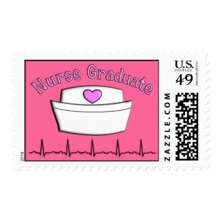 Nurse Graduation Postage Stamps Pink