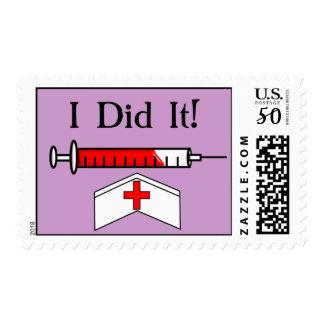 Nurse Graduation Postage Stamps Purple