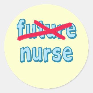 Nurse Graduation Products Classic Round Sticker