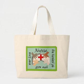 "Nurse ""Hardest Job You Will Ever Love"" Gifts Jumbo Tote Bag"
