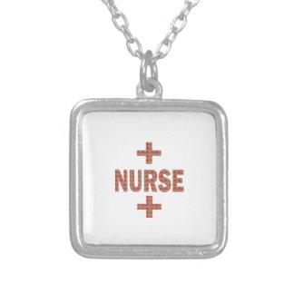 NURSE : HealthCare Hospital Medicine Charity GIFTS Square Pendant Necklace