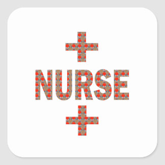 NURSE : HealthCare Hospital Medicine Charity GIFTS Square Sticker