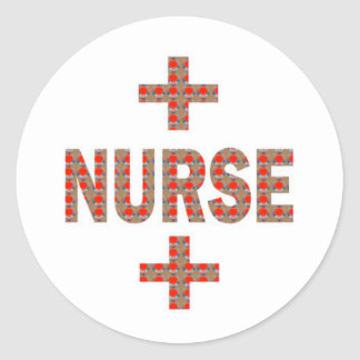NURSE : HealthCare Hospital Medicine Charity GIFTS Round Sticker