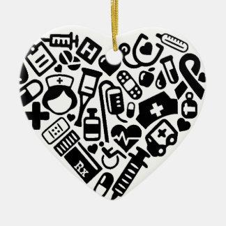 Nurse HEART Ceramic Ornament