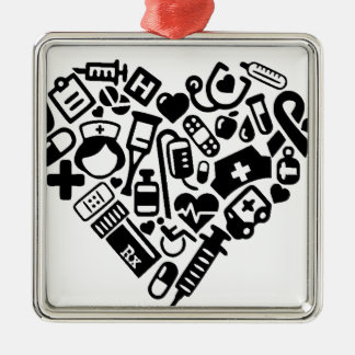 Nurse HEART Metal Ornament