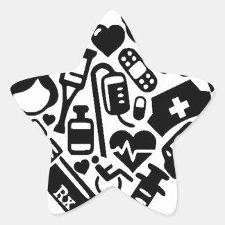 Nurse HEART Star Sticker