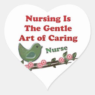 Nurse Heart Sticker