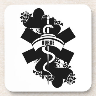 Nurse Heart Tattoo Coaster