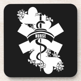 Nurse Heart Tattoo Drink Coaster