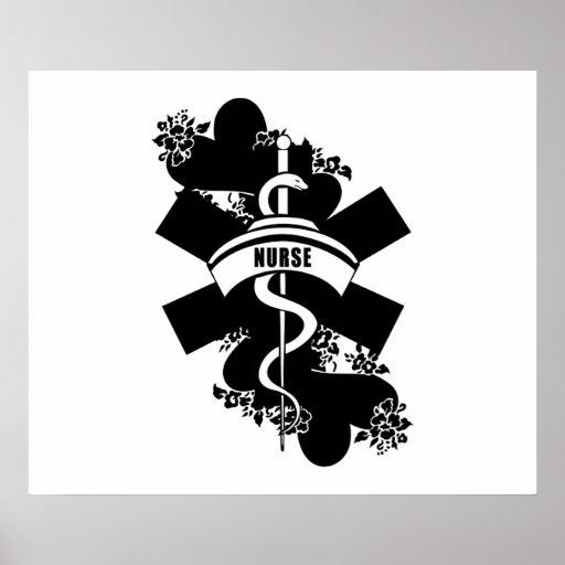 Nurse Heart Tattoo Poster