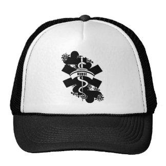 Nurse Heart Tattoo Trucker Hat