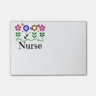 Nurse--Hearts, Flowers and Butterflies Post-it® Notes
