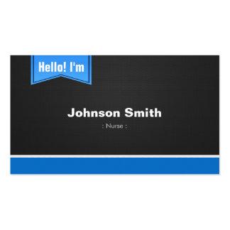 Nurse - Hello Contact Me Business Card Templates