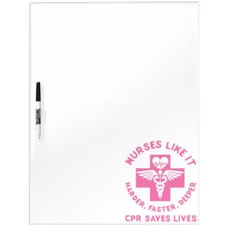 Nurse Humor - CPR  Save Lives - Funny Novelty Dry-Erase Board