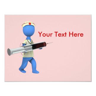 "Nurse Humor 4.25"" X 5.5"" Invitation Card"