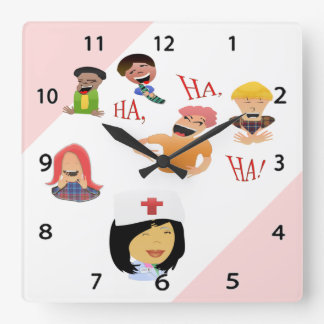 Nurse Humor Laughing Clinic Wall Clock