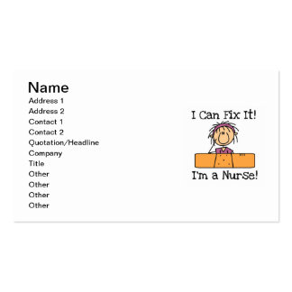 Nurse I Can Fix It T-shirts and Gifts Double-Sided Standard Business Cards (Pack Of 100)