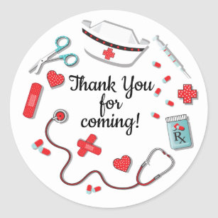 bc949d61 Nurse icon stickers favor tags