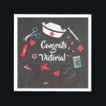 "Nurse icons graduation party napkins<br><div class=""desc"">Nurse icons graduation party paper napkins</div>"